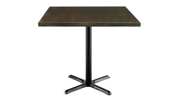"""Cafeteria Tables KFI Seating 42"""" Square Vintage Wood Counter Table"""