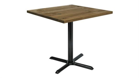 "Cafeteria Tables KFI Seating 42"" Square Vintage Wood Counter Table"