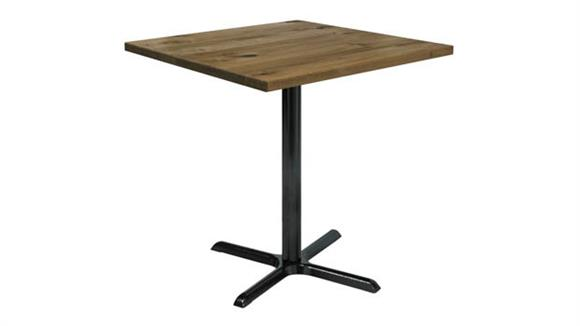 "Cafeteria Tables KFI Seating 42"" Square Vintage Wood Bistro Table"