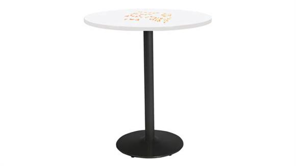 "Activity Tables KFI Seating 42"" Round Pedestal Table with Whiteboard Top & 41""H Round Base"