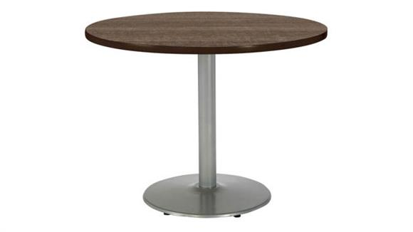 "Cafeteria Tables KFI Seating 48"" Round Breakroom Table, Counter Height, Round Base"