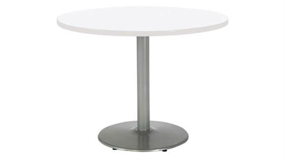 """Cafeteria Tables KFI Seating 48"""" Round Breakroom Table, Counter Height, Round Base"""