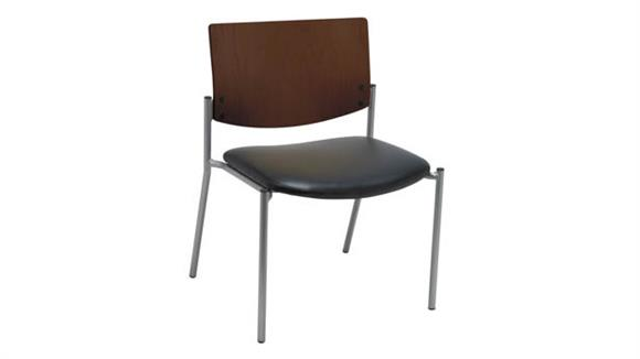 Side & Guest Chairs KFI Seating Side / Guest Chair, Armless with Wood Back, Big / Tall