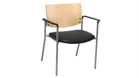 Side & Guest Chairs KFI Seating Side / Guest Chair, Arms with Wood Back, Big / Tall