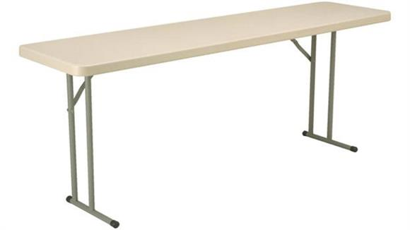 "Folding Tables KFI Seating 18"" x 72"" Blow Molded Folding Table"