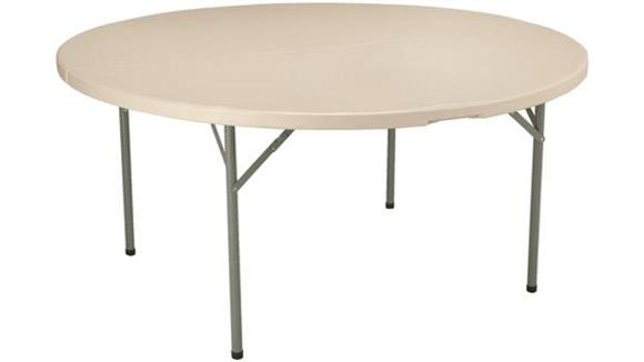 """Folding Tables KFI Seating 60"""" Round Blow Molded Folding Table"""