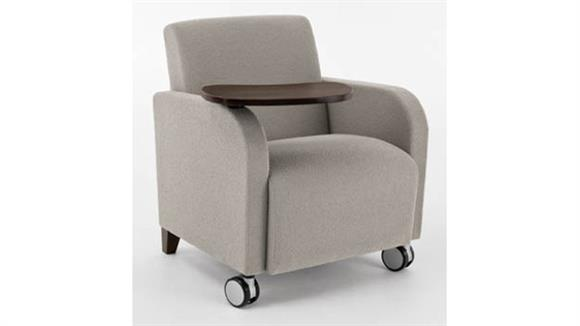 Side & Guest Chairs Lesro Guest Chair with Swivel Tablet and Casters