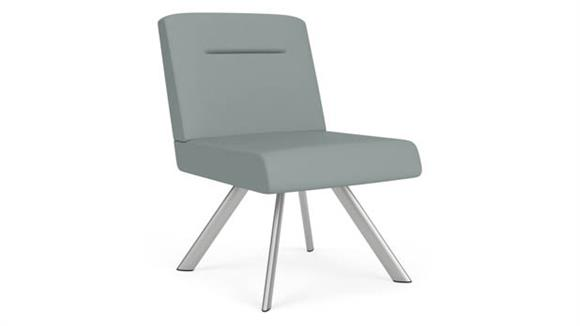 Side & Guest Chairs Lesro Polyurethane Armless Swivel Guest Chair