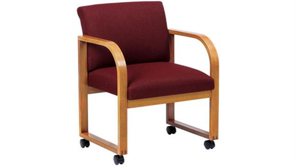 Side & Guest Chairs Lesro Sled Base Guest Chair with Casters