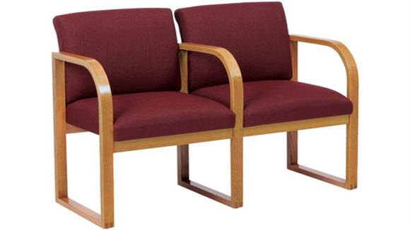 Side & Guest Chairs Lesro 2 Seat Sofa with Center Arm