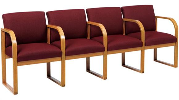 Side & Guest Chairs Lesro 4 Seat Sofa with Center Arms