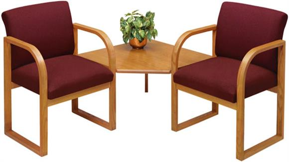 Side & Guest Chairs Lesro 2 Chairs with Connecting Corner Table