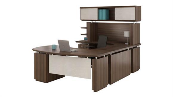Mayline Office Furniture U Shaped Desk With Hutch