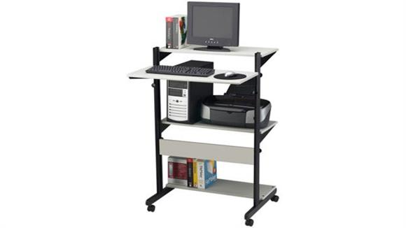 Computer Carts Mayline Office Furniture Adjustable Computer Table