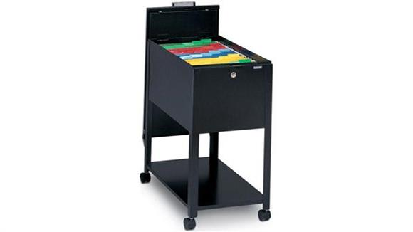 Mobile File Cabinets Mayline Office Furniture Letter Size Mobile File with Lid