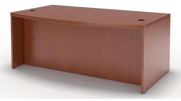 "Executive Desks Mayline Office Furniture 66"" Bow Front Desk"