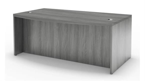 "Executive Desks Mayline Office Furniture 66"" Bow Front Desk"