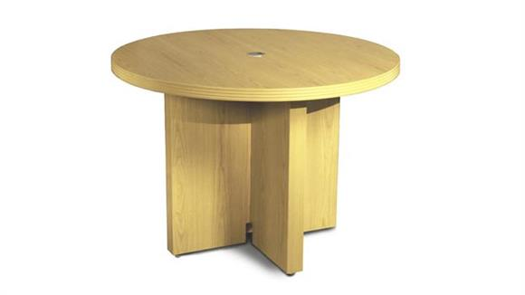 "Conference Tables Mayline Office Furniture 42"" Round Conference Table"