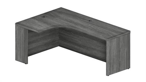 """Corner Desks Mayline Office Furniture 72"""" Left Extended Corner Table"""