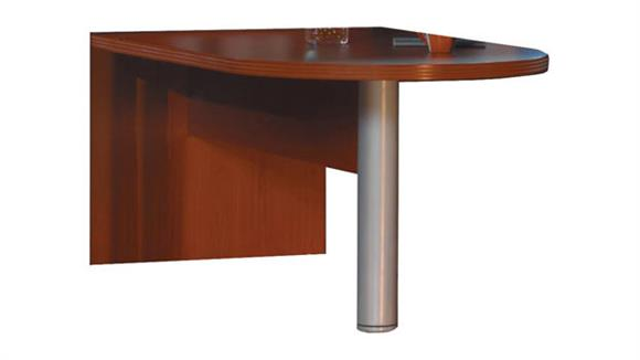 "Modular Desks Mayline Office Furniture 72"" Freestanding Peninsula"