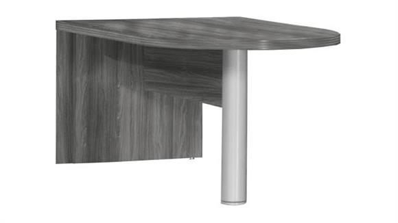 "Modular Desks Mayline Office Furniture 72"" Freestanding Peninsula"