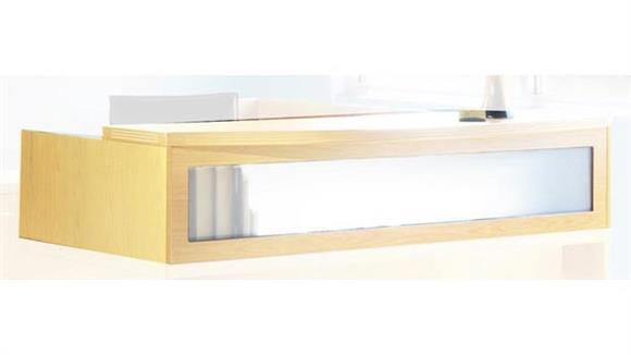 "Reception Desks Mayline Office Furniture 72"" Reception Transaction Counter"