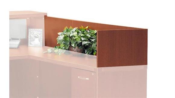 "Reception Desks Mayline Office Furniture 48"" Reception Return Screen"