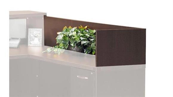 "Reception Desks Mayline Office Furniture 48"" Reception Return Screen"