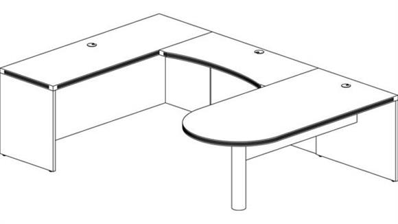 U Shaped Desks Mayline Office Furniture Peninsula U Shaped Desk