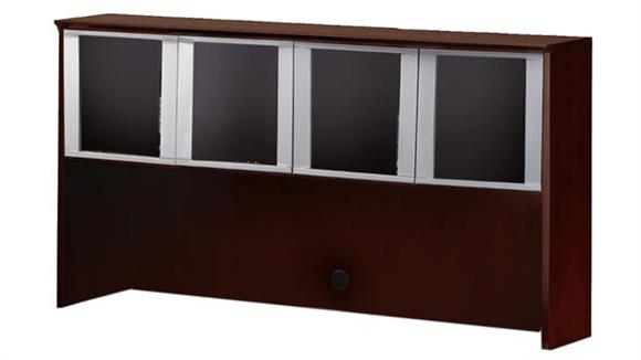 "Hutches Mayline Office Furniture 72"" Hutch with Glass Doors"