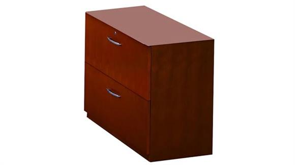 "File Cabinets Mayline Office Furniture 36"" Lateral File for Credenza or Return"