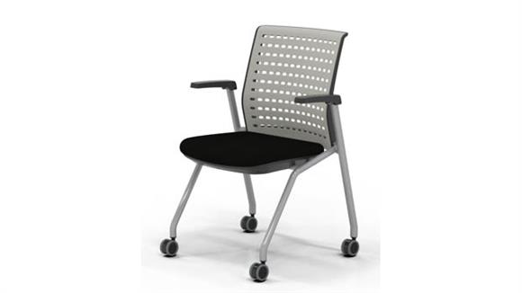Stacking Chairs Mayline Office Furniture Training Chair with Arms