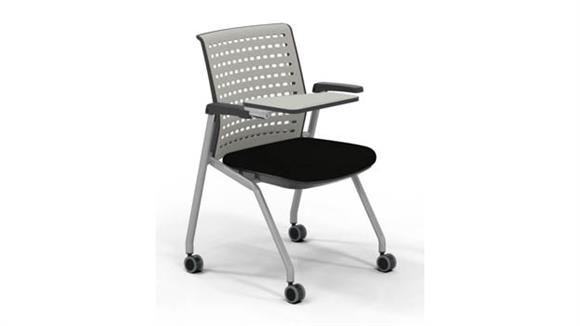 Stacking Chairs Mayline Office Furniture Training Chair with Tablet