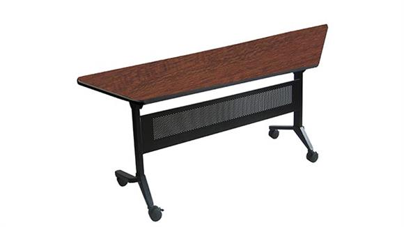 "Training Tables Mayline Office Furniture 60"" x 24"" Trapezoid Training Table"