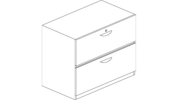 File Cabinets Mayline Office Furniture 2 Drawer Lateral File with Unfinished Top