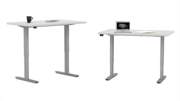 "Adjustable Height Desks & Tables Mayline Office Furniture 48"" x 24"" Height Adjustable Table"