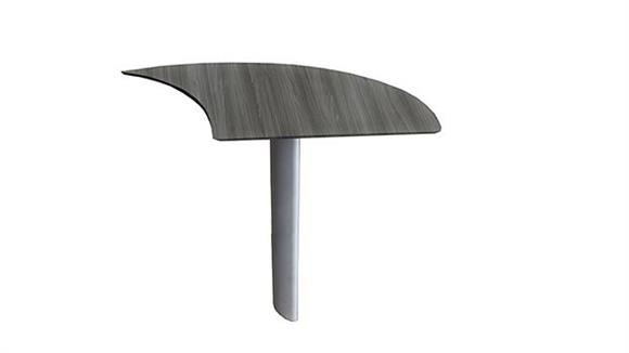 Desk Parts & Accessories Mayline Office Furniture Curved Desk Extension