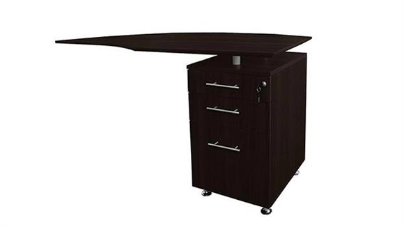 Desk Parts & Accessories Mayline Office Furniture Curved Desk Return with Pedestal