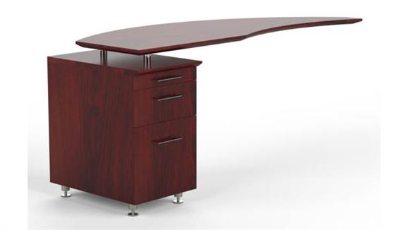 Desk Parts & Accessories Mayline Office Furniture Curved Desk Return with Pedestal