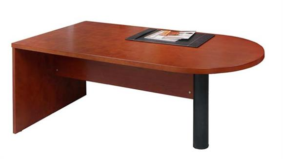 "Executive Desks Mayline Office Furniture 72"" Wood Veneer Peninsula Desk"