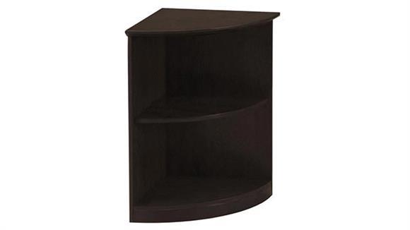 Bookcases Mayline Office Furniture 2 Shelf Quarter Round Bookcase