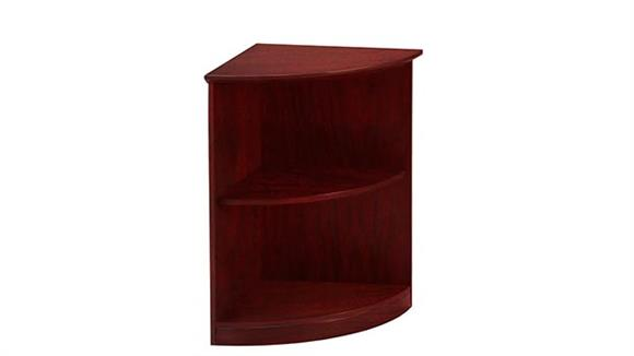 Bookcases Mayline Office Furniture 2 Shelf Quarter Round Bookcase