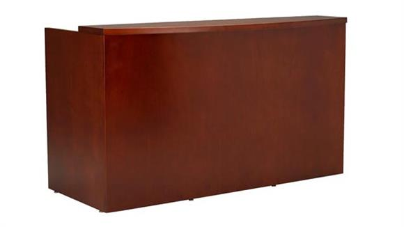 "Reception Desks Mayline Office Furniture 72"" Reception Station Shell"