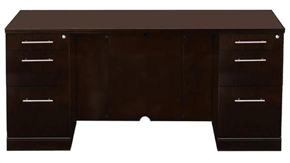 "Office Credenzas Mayline Office Furniture 72"" Double Pedestal Credenza"