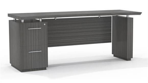 "Office Credenzas Mayline Office Furniture 66"" Single Pedestal Credenza"