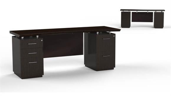 "Office Credenzas Mayline Office Furniture 72"" Double Pedestal Credenza"