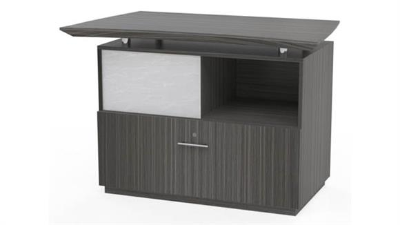 File Cabinets Lateral Mayline Office Furniture Reception Lateral File with Sliding Acrylic Door