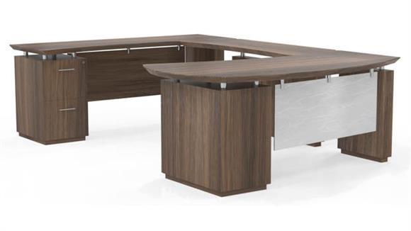 U Shaped Desks Mayline Office Furniture U Shaped Desk