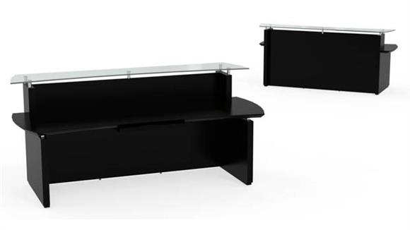 "Reception Desks Mayline Office Furniture 96"" Reception Desk"
