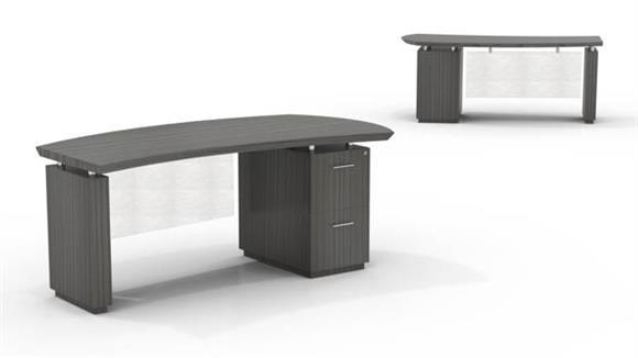 "Executive Desks Mayline Office Furniture 72"" Single Pedestal Desk"